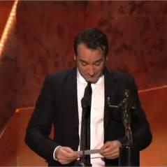 Jean Dujardin en larmes : de nouveau récompensé pour The Artist avant les Oscars