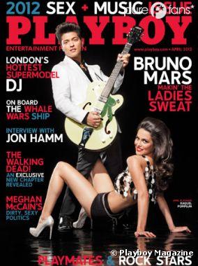 Bruno Mars est le 10ème homme à faire la une de Playboy
