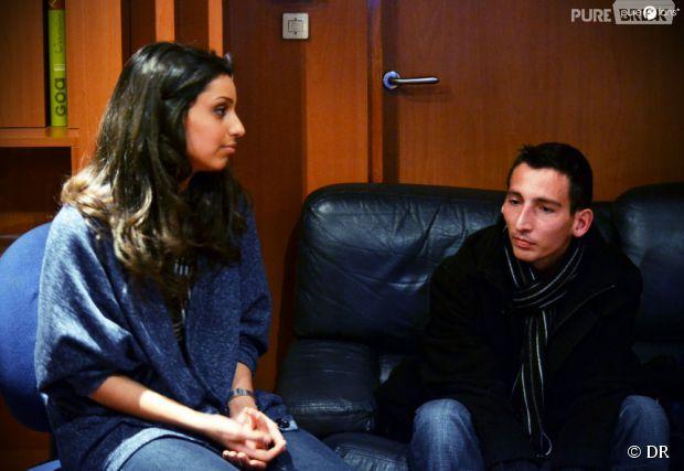Tal et Romain lors de la pré-écoute de son album