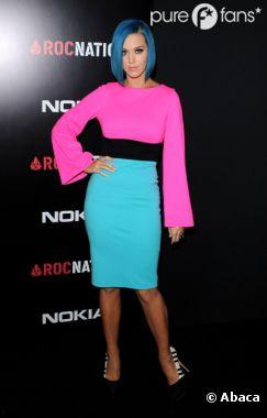 Katy Perry et ses jolis cheveux bleus
