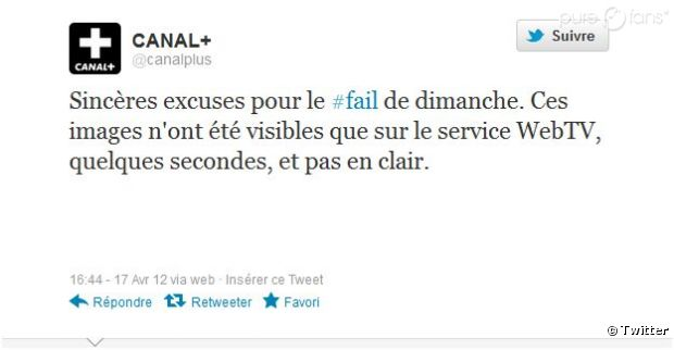 Canal Plus assume son fail !