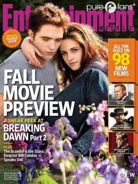 Robert Pattinson et Kristen Stewart en une de Entertainment Weekly