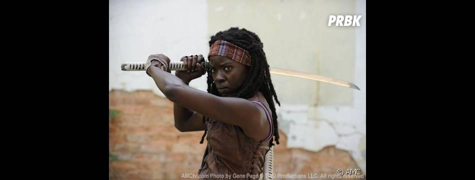 Michonne ne va pas rigoloer non plus dans Walking Dead