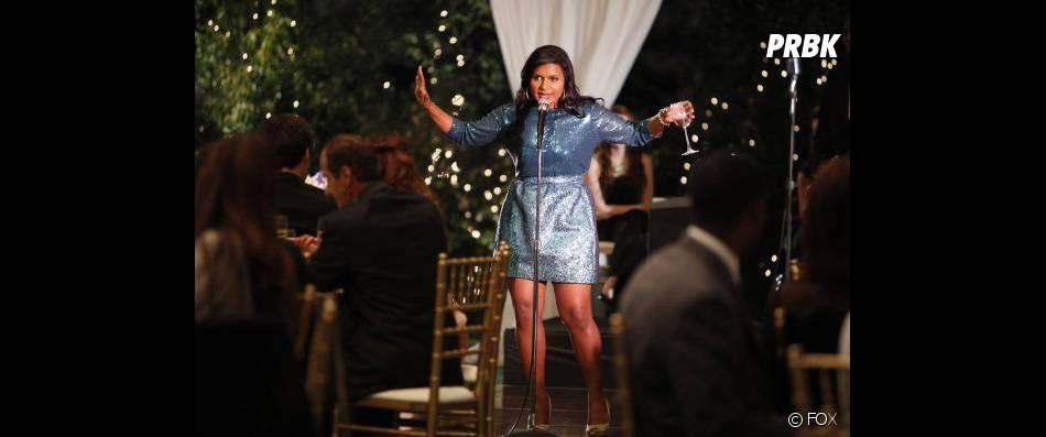 Mindy porte un toast déplacé lors d'un mariage