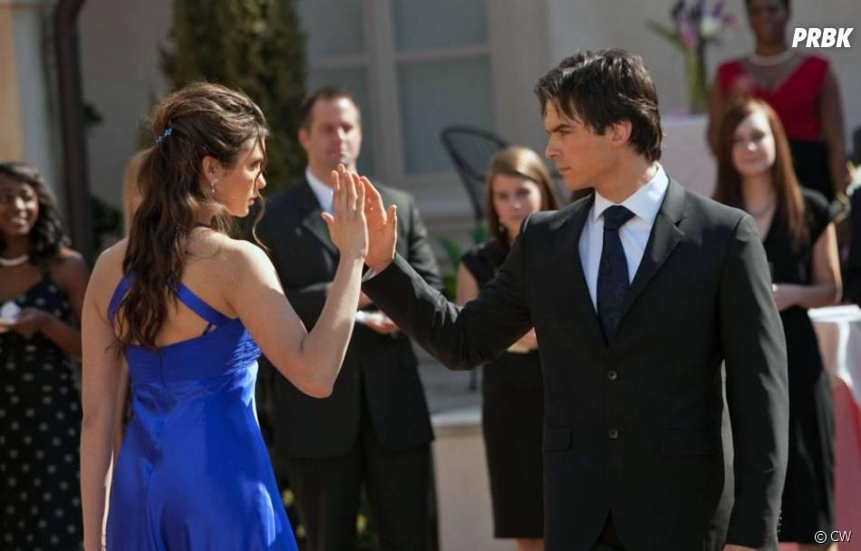 Damon et Elena dans la saison 1 de Vampire Diaries
