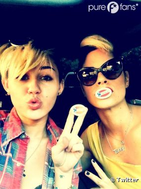 Miley Cyrus à fopnd pour sa première élection !