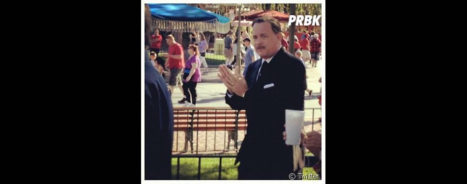 Tom Hanks sur le tourange de Saving Mr Banks