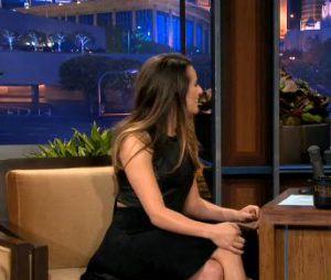 Lea Michele sur le plateau de Jay Leno