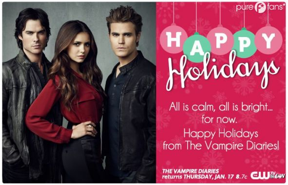 The Vampire Diaries vous souhaite de joyeuses fêtes