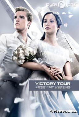 Peeta et Katniss, en mariés sur la nouvelle affiche d'Hunger Games 2