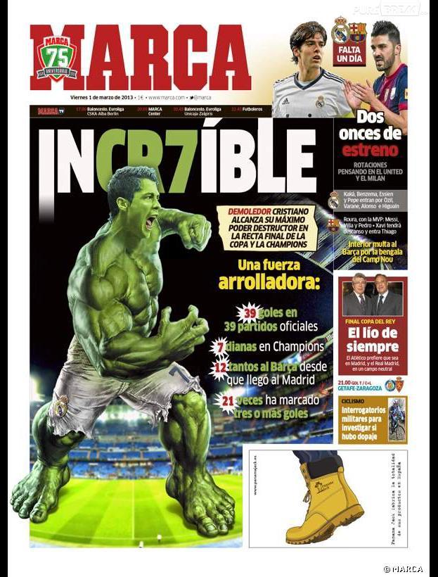 Cristiano Ronaldo en Hulk pour Marca