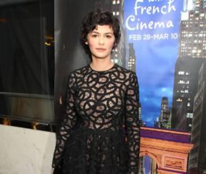 Audrey Tautou, plus sexy que jamais à New York le 28 février