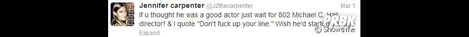 Jennifer Carpenter adore Michael C. Hall en tant que réalisateur