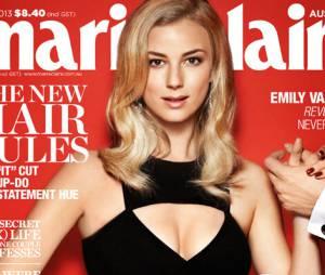 Emily VanCamp et son joli décolleté en Une de Marie Claire