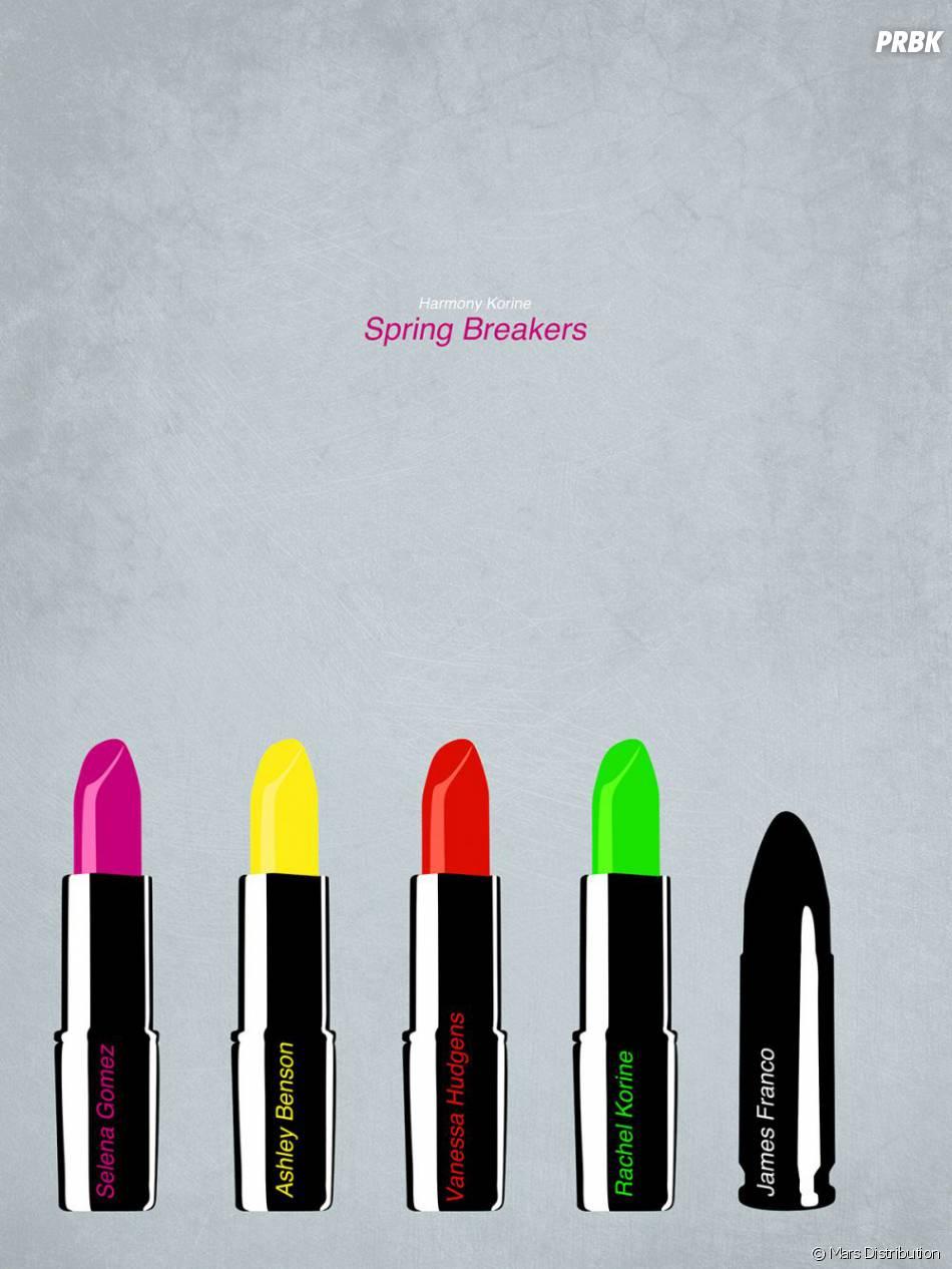 Un poster rouge-à-lévre dans Spring Breakers