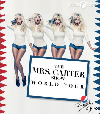 Beyoncé en pin-up blonde rétro pour The Mrs Carter Show World Tour