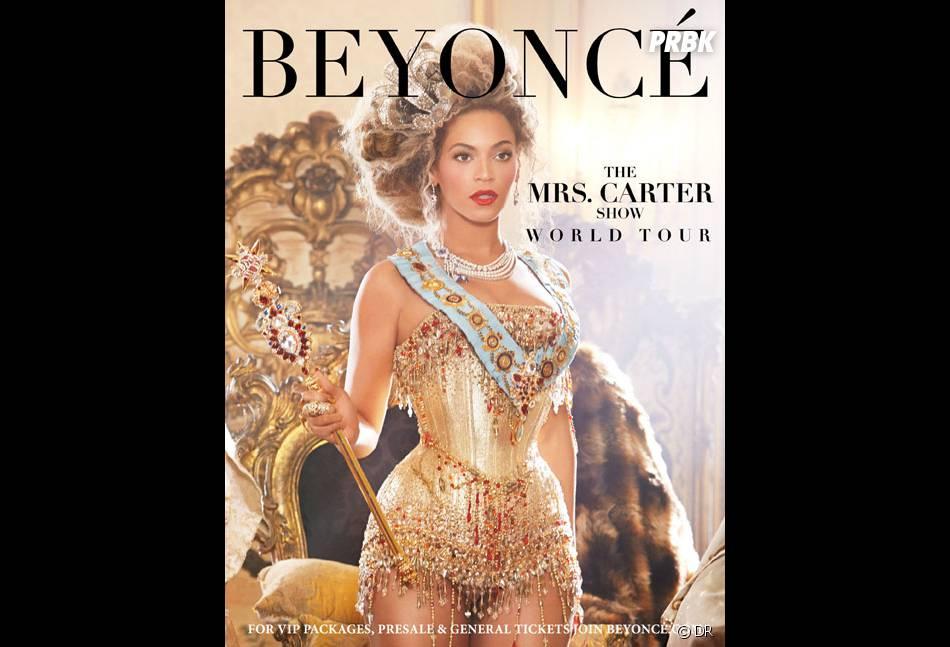 Beyoncé en Marie-Antoinette sexy pour la 1ere affiche du Mrs Carter Show World Tour