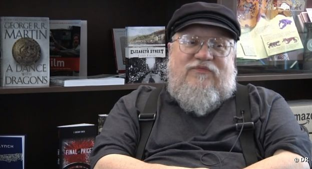 George R.R. Martin devant la caméra de Game of Thrones