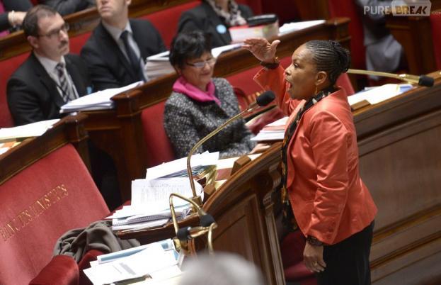 Le premier article du projet de loi sur le mariage pour tous, porté par Christiane Taubira, a été adopté par le Sénat