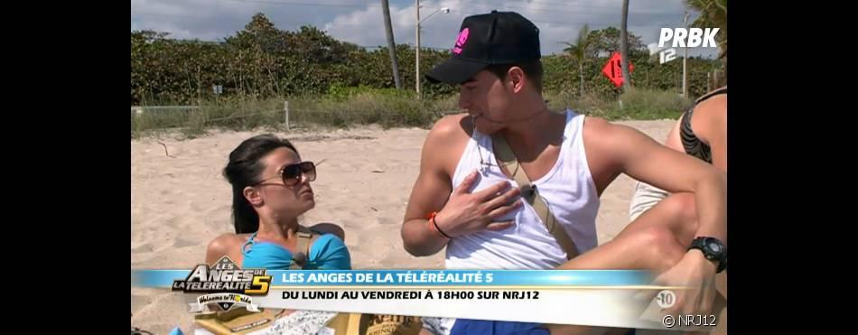 Capucine et Geoffrey étaient complices sur la plage de Miami dans les Anges de la télé-réalité 5.