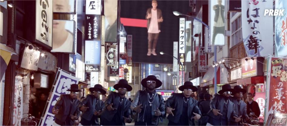 Justin Bieber également sur écran géants face à Will.i.am