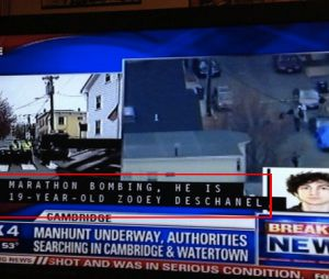 Zooey Deschanel confondue avec un suspect de Boston par une antenne de la FOX