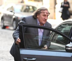 Gérard Depardieu et Jacqueline Bisset sur le tournage du film sur l'affaire DSK