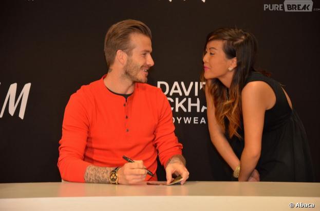 David Beckham dédicace ses slips au magasin H&M Boulevard Haussman à Paris, le 24 mai 2013