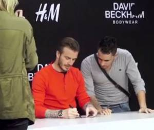 David Beckham, séance de dédicace au H&M Boulevard Haussman à Paris le 24 mai 2013