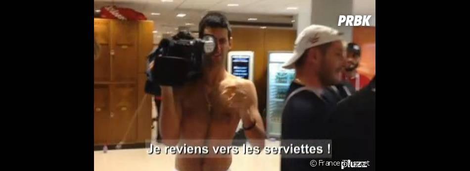 Novak Djokovic a emprunté une caméra de France Télévisions pour filmer les vestiaires