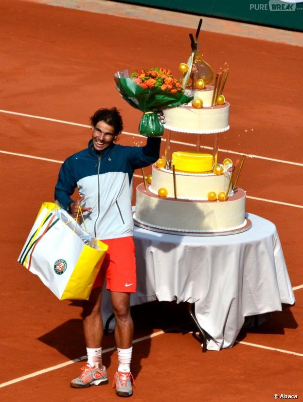 Rafael Nadal a fêté ses 27 ans sur le Central de Roland Garros