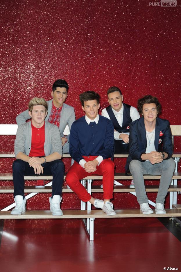 Les statues des One Direction au Musée de Madame Tussauds à Londres.