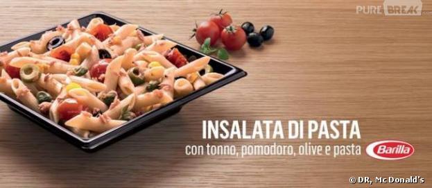 Une salade de pâtes signée Barilla au menu des Mc Donald's italiens