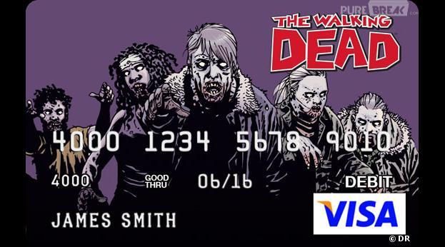 The Walking Dead : des cartes bancaires aux couleurs de la série
