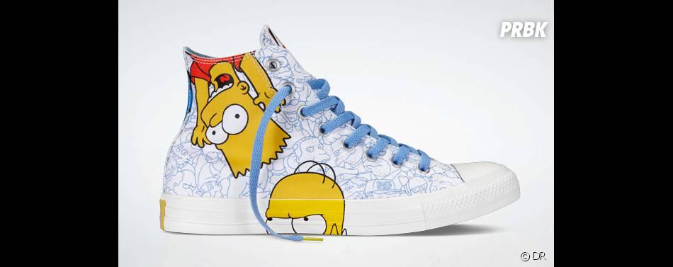 Les Simpson s'associe avec la marque Converse