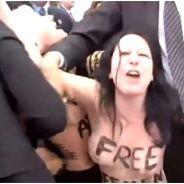 François Hollande : à son tour d'être attaqué par les seins nus des Femen