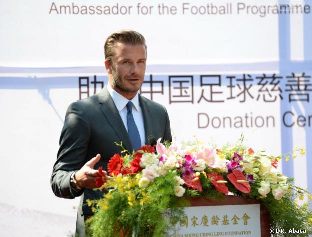 David Beckham de passage en Chine au mois de juin 2013