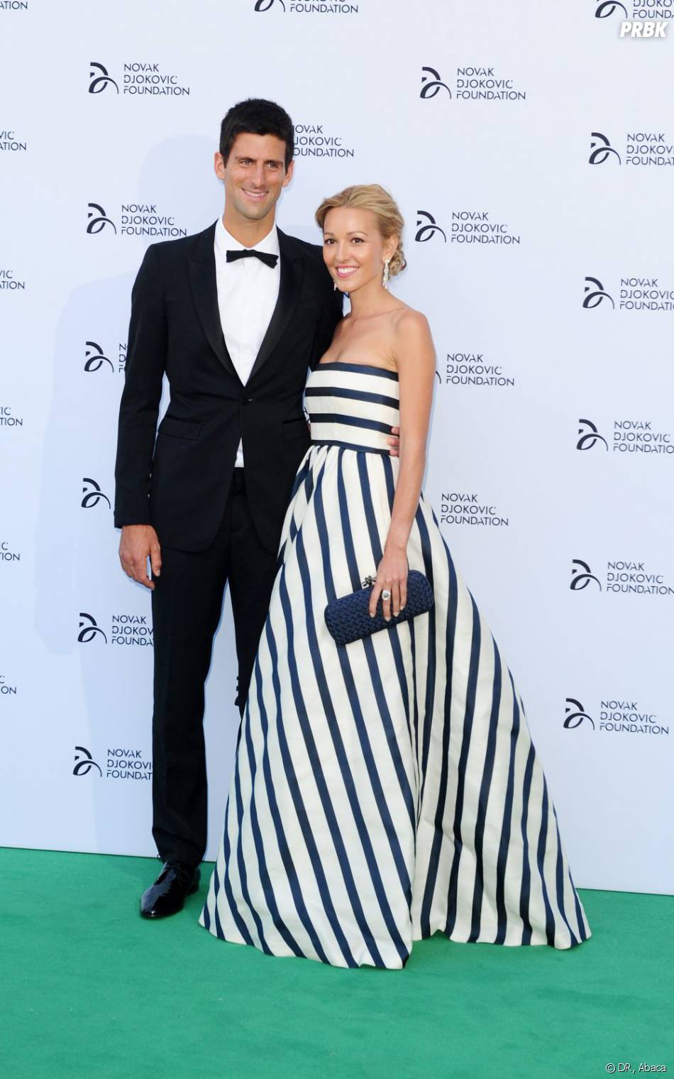 Novak Djokovic et Jelena Ristic lors de la soirée de charité en faveur de sa fondation le 8 juillet 2013.