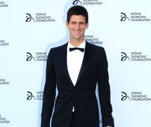 Novak Djokovic lors de sa soirée en faveur des jeunes serbes le 8 juillet 2013 à Londres.