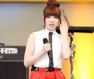 Carly Rae Jepsen pendant l'émission Good Morning America, à New York en juin 2013