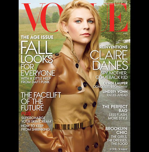 Claire Danes en Une du magazine Vogue