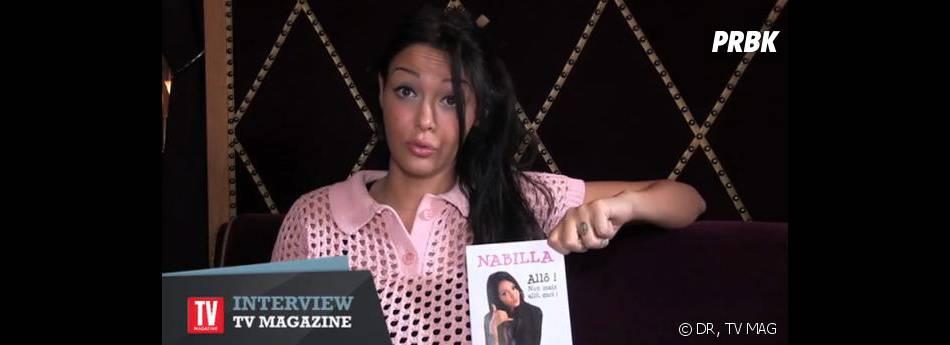 Nabilla parle de son bouquin avec humour pour TV Mag.