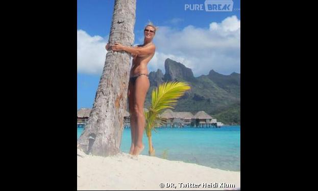 Heidi Klum, topless pour ses vacances à Bora Bora