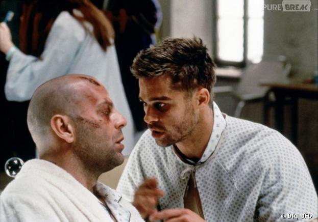 Bruce Willis et Brad Pitt dans l'Armée des douze singes