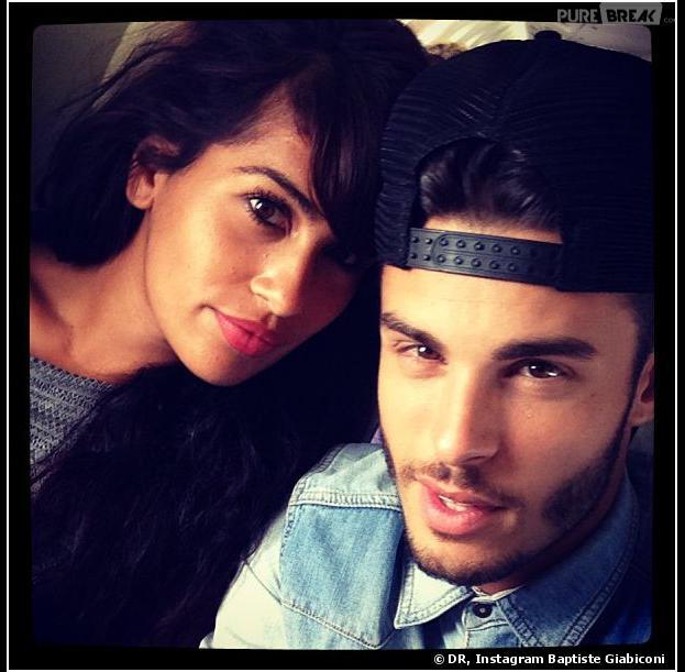 Baptiste Giabiconi et Sarah sur Instagram, en juillet 2013