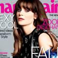 Zooey Deschanel en Une de l'édition américaine de Marie Claire pour le mois de septembre 2013