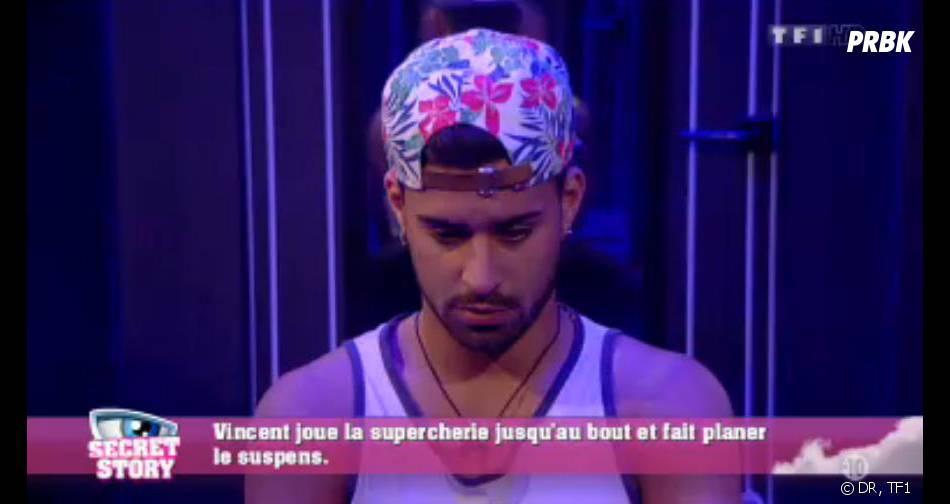 Secret Story 7 : Vincent accepte son faux départ de la Maison des secrets.
