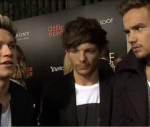 Les One Direction parlent du soutien de Lady Gaga lors de MTV VMA 2013  à l'avant-première de leur film This is Us à New York le 26 août 2013
