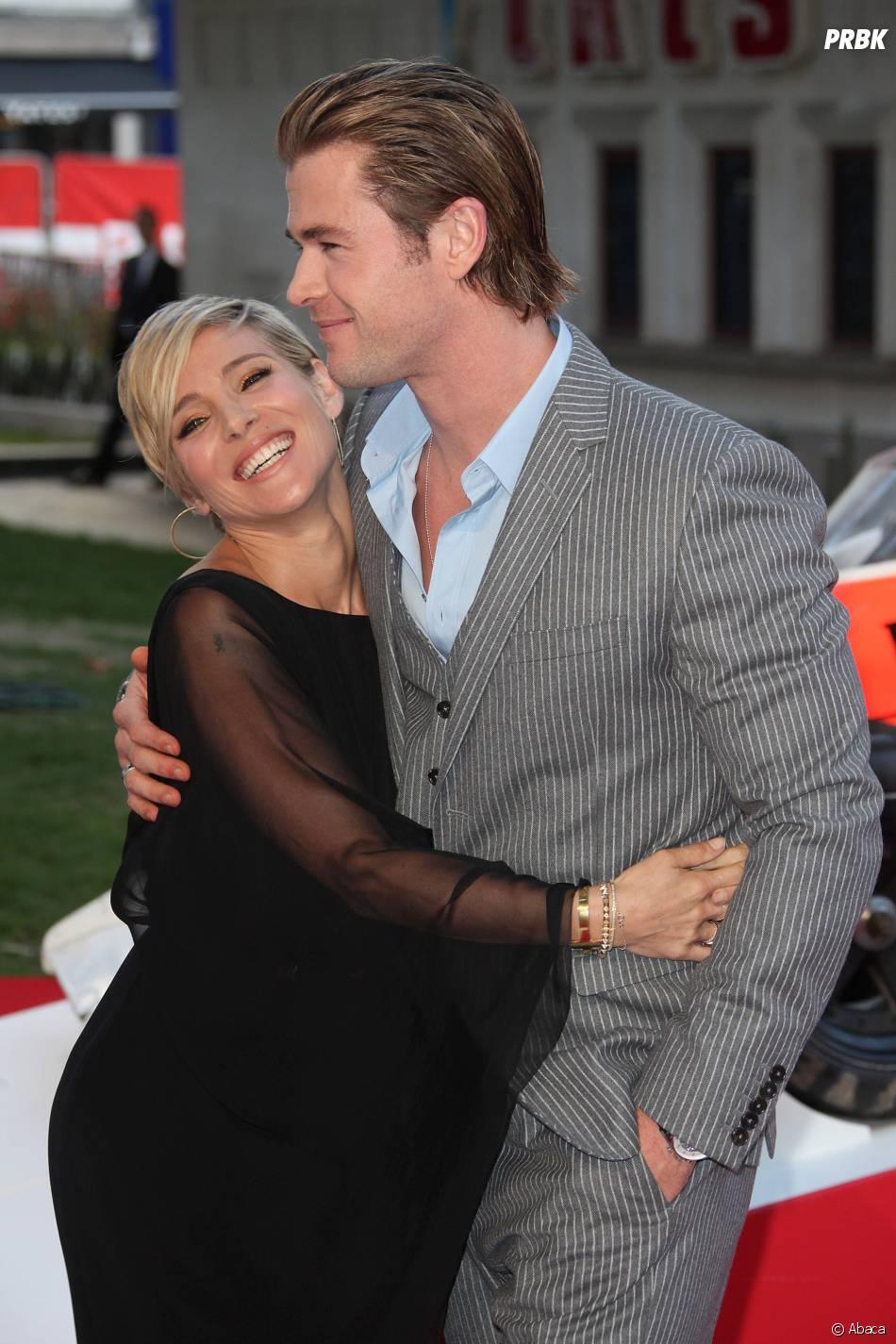 Chris Hemsworth et Elsa Pataky à l'avant-première du film Rush le 2 septembre 2013 à Londres