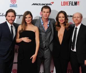 L'équipe du film à l'avant-première de Rush le 2 septembre 2013 à Londres